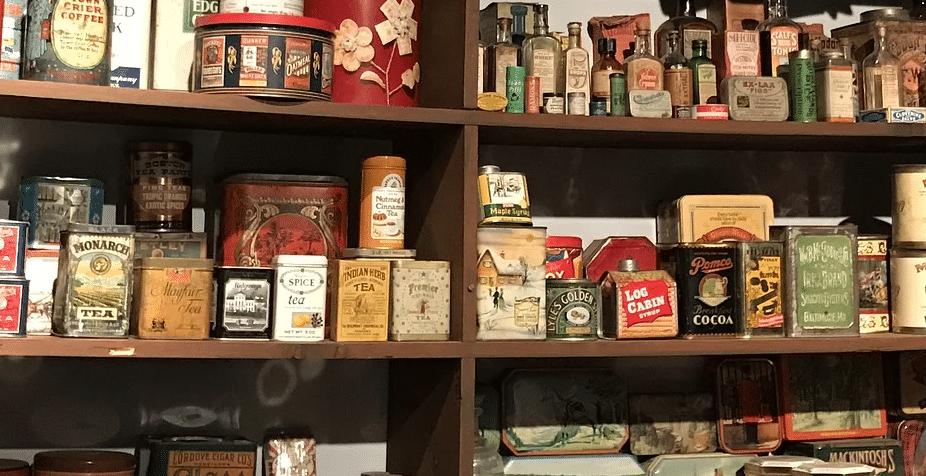 Shelf at goods